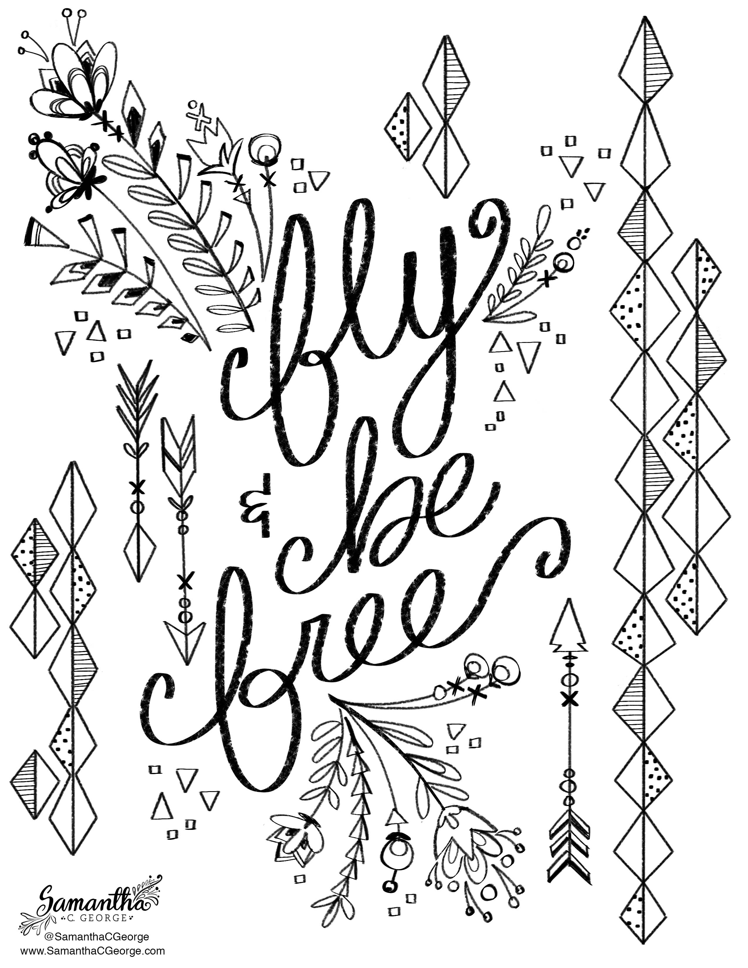 free coloring pages samantha c george